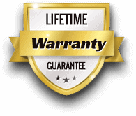 Powerflex Lifetime Warranty badge