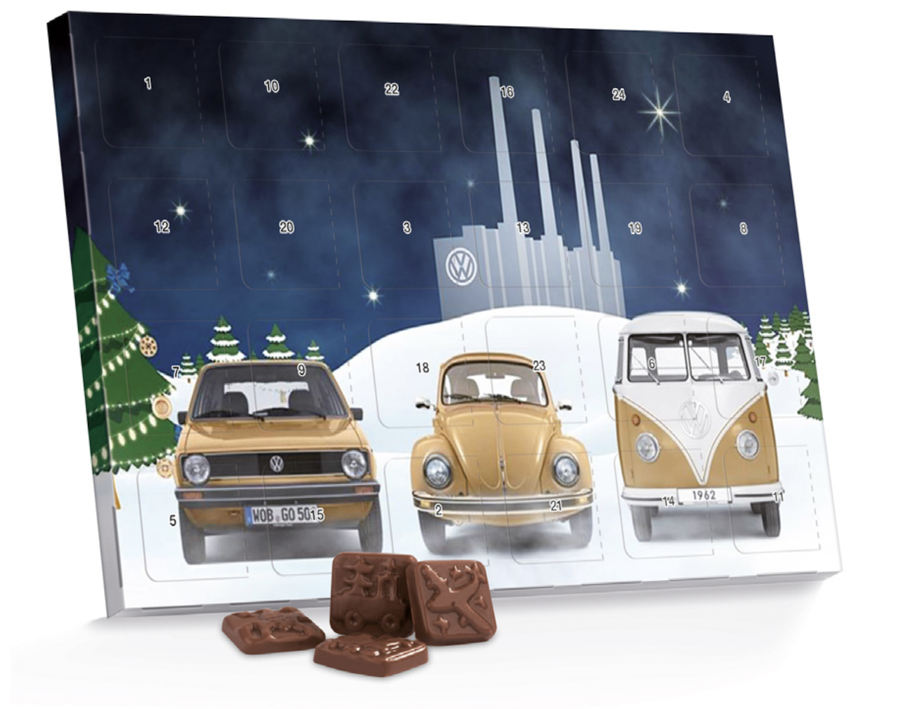 Volkswagen Christmas Xmas Advent Calendar VW Fans Fun Gift Genuine New OEM Parts For Classic Car Fans Accessory Gift Present